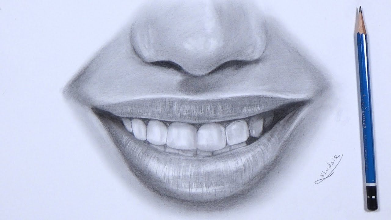 Drawing Lips With Charcoal And Graphite Realistic Pencil Drawing Lips Drawing Pencil Drawings Realistic Pencil Drawings
