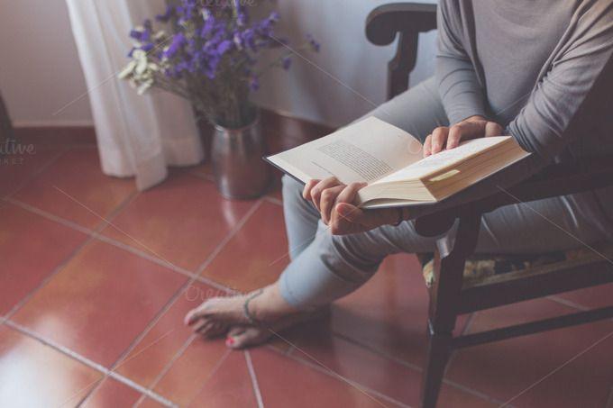 Book and flowers by Seronda Estudio on Creative Market