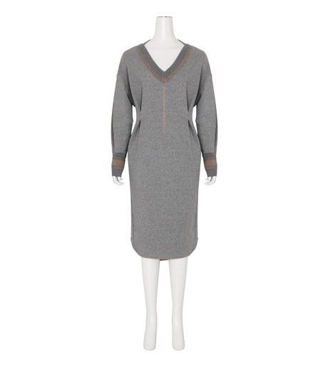 Sweatshrit Dress Knit Rib-1