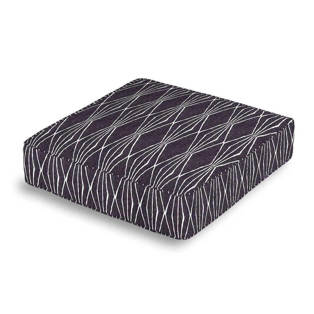 box floor pillows. Black And White Diamond Box Floor Pillow | Loom Decor Pillows