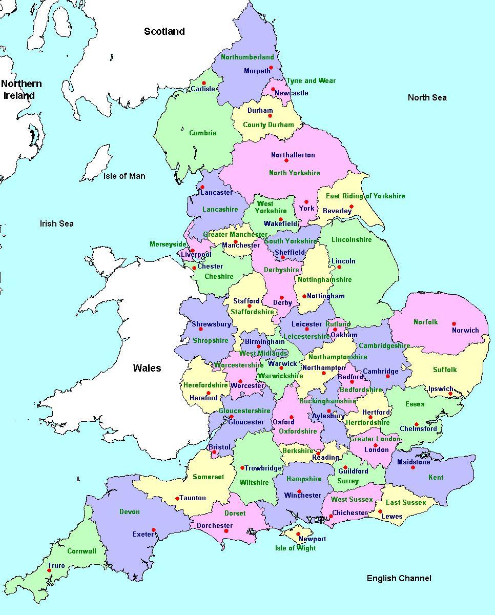 Map Of England Mapa De Inglaterra Viajes A Londres Mapa De