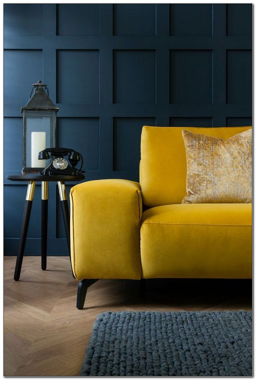 Mustard Color Sofa  Living room color schemes, Perfect living