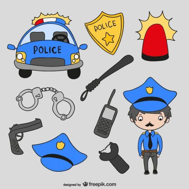 Police Cartoons Vector Cartoons Vector Police Birthday Party Cartoon Styles