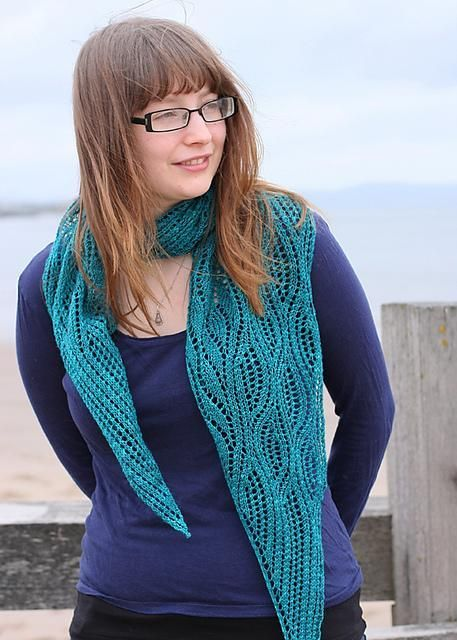 Estuary Shawl Knit Pattern // Craftsy // Free