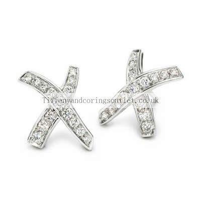 Tiffany Co Mosaic Stone Cross Earrings Platinum 10 Diamonds Love Paloma