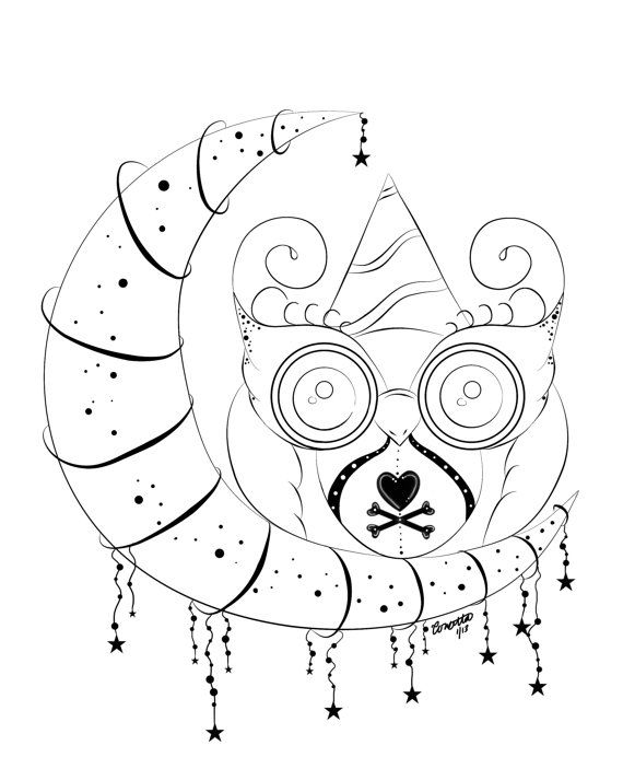 Owl Stationary Coloring Page Adult By Enchantedezignstudio