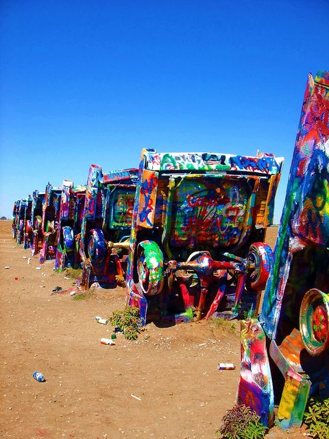 Cadillac Ranch Pinterest Ranch Texas And Route 66
