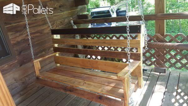 Easy Diy Tutorial Build Install One Pallet Swing Bench