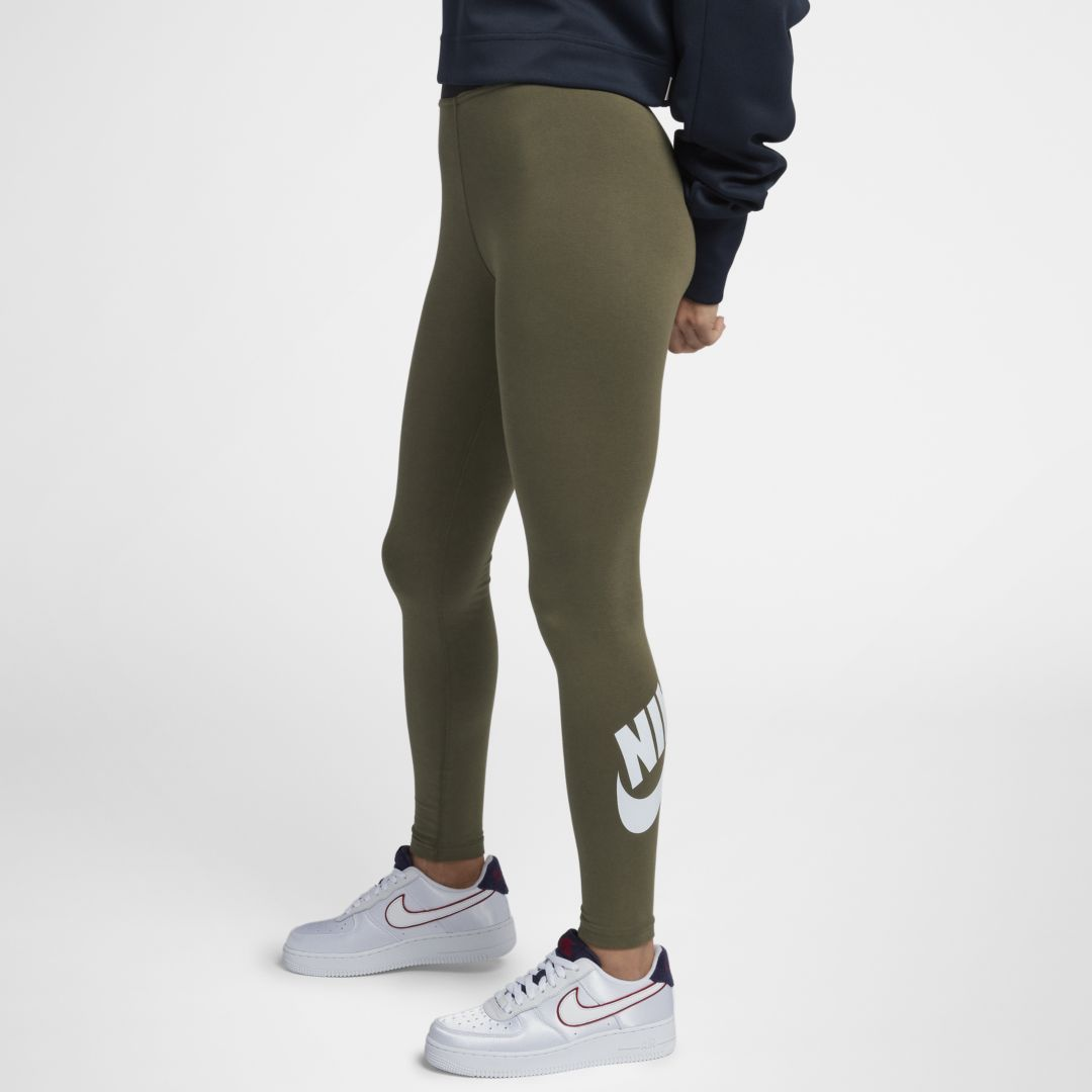 24a00b08d7ffe0 Nike Sportswear Leg-A-See Women's Logo Leggings Size L (Olive Canvas)