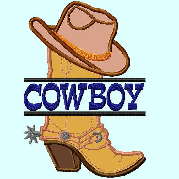 be5079129e0 Split Cowboy Hat on Boot Applique Embroidery Design Pattern INSTANT DOWNLOAD  on Etsy