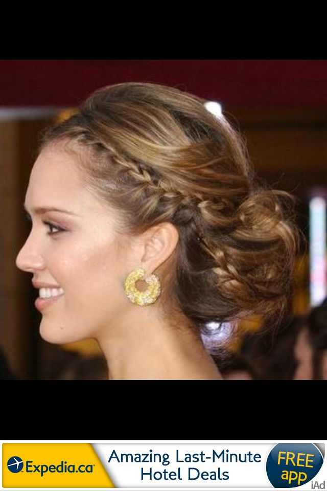 jessica alba braided updo | K10's Getting Hitched ...