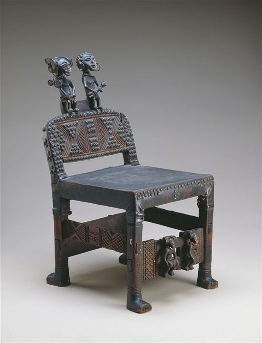 Africa | Royal chair from the Chokwe people of DR Congo or ...