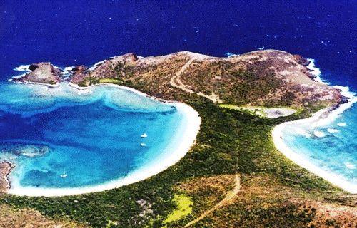 Culebrita Island Off The Coast Of Puerto Rico Features Majestic Beaches
