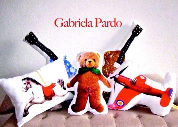 Cojines para niños, Gloria Pardo http://www.minimoda.es