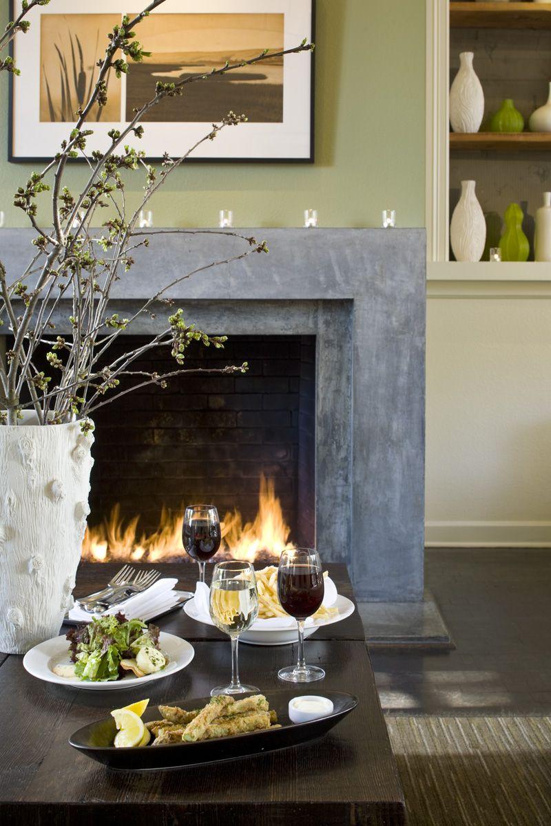 Dinner by the fireplace, El Dorado Kitchen Sonoma   Gorgeous Food ...