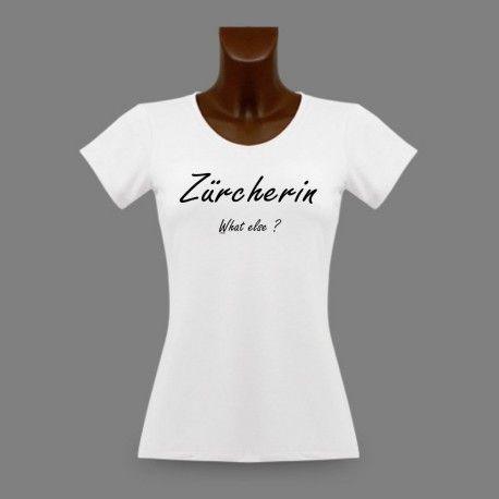 Lustig Damenmode T-shirt - Zürcherin, What else ? https://www.apprentiphotographe.ch/shop/de/frauen-t-shirts-schweizerische-staedte-und-bezirke/1136-lustig-damenmode-t-shirt-zuercherin-what-else.html