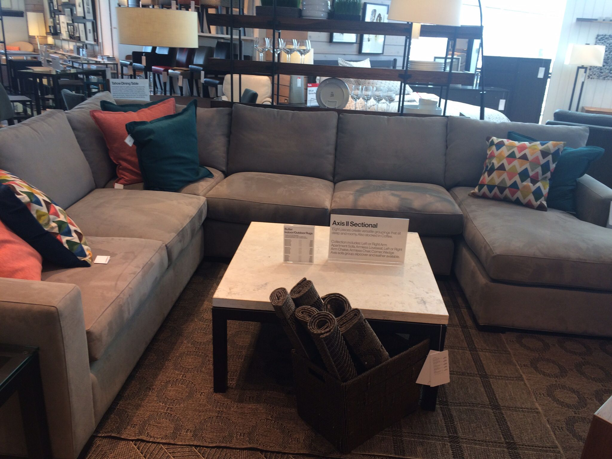 Axis Crate And Barrel Crate And Barrel Sectional Microfiber