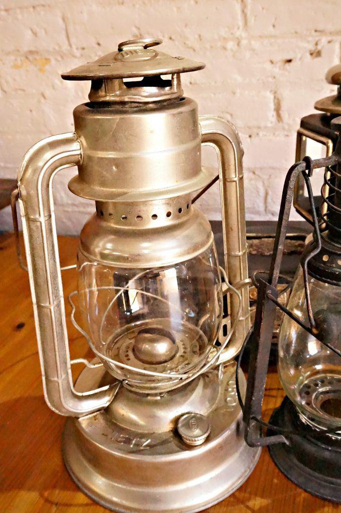 Magnifico original y antiguo farol lampara vintage de - Lampara de parafina ...