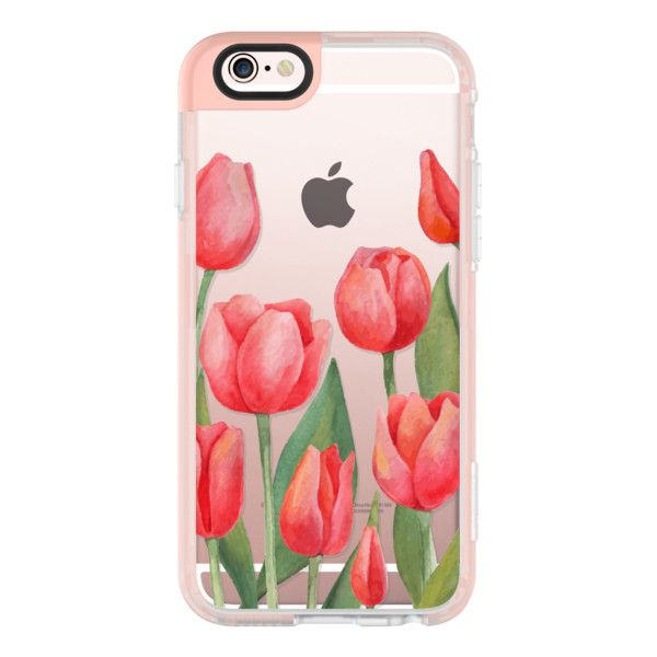 Iphone 6 Plus 6 5 5s 5c Case Watercolor Tulips Spring Flowers