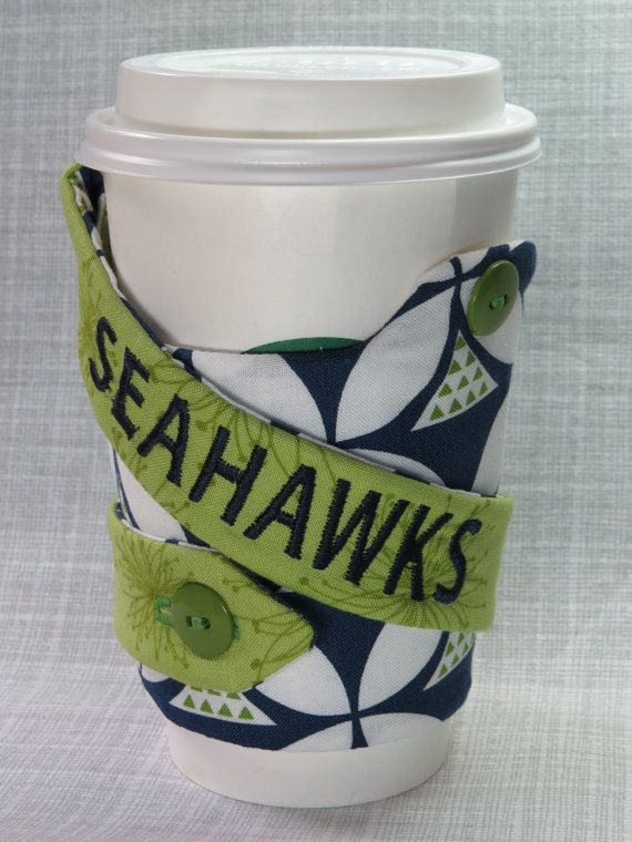 Seattle Seahawks Coffee Cozy & Carry. Check out this item in my Etsy shop https://www.etsy.com/listing/219768526/seattle-seahawks-coffe-cozy-carry