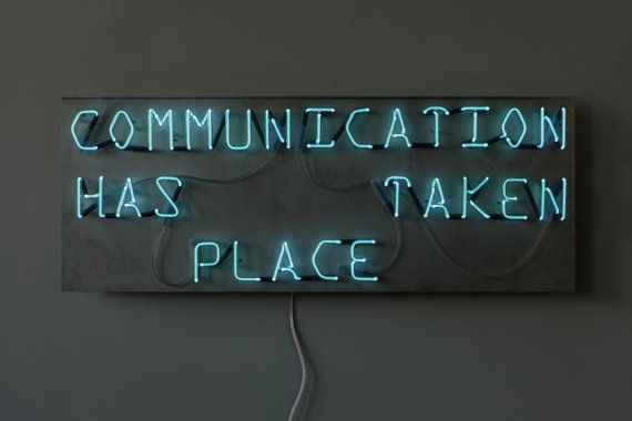 Communication handmade neon sign by sygns on Etsy