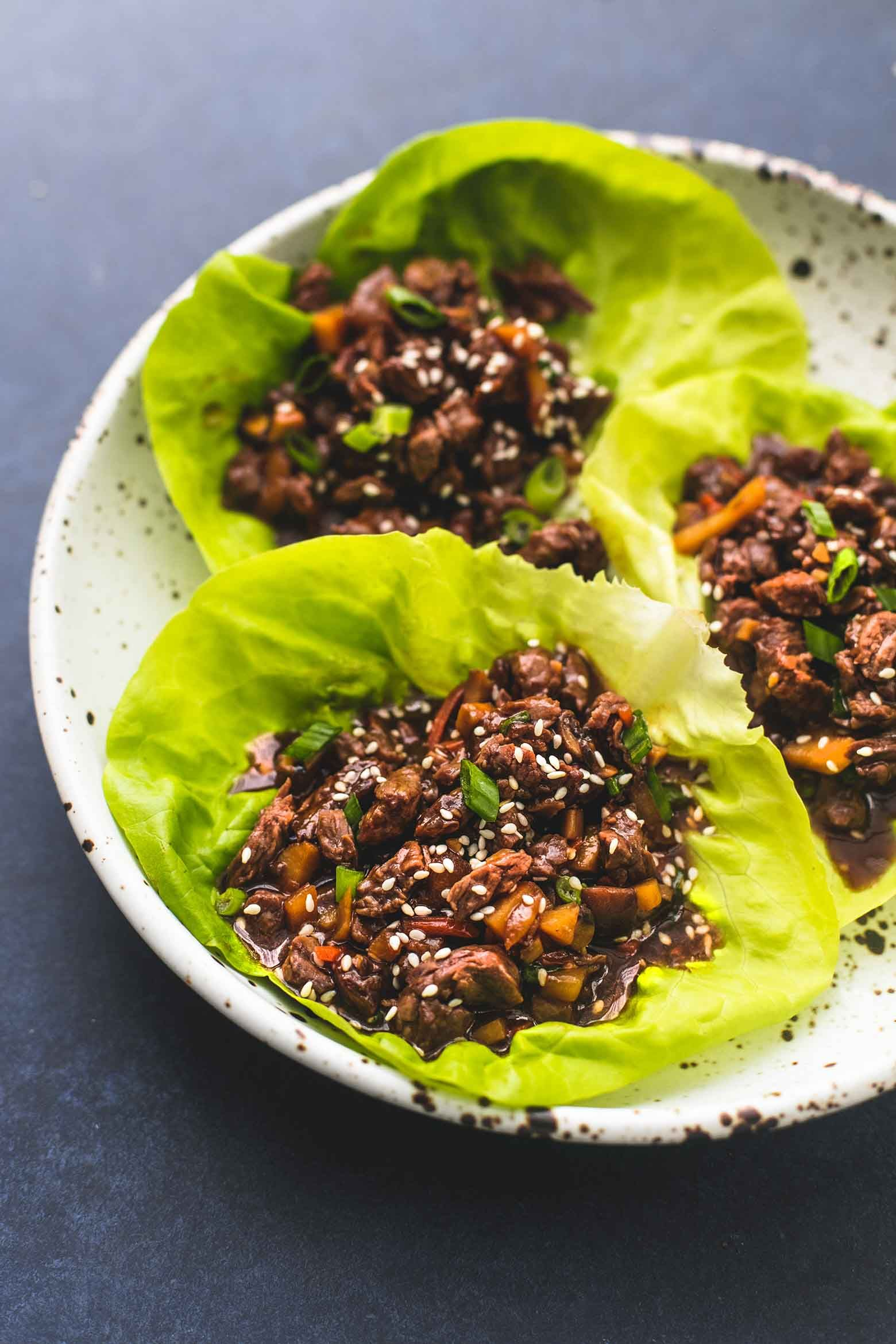 Easy Completely Delicious Honey Beef Lettuce Wraps With Sweet And