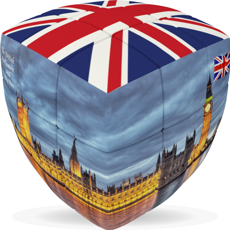 London Flag   V CUBE 3 Pillow   The Flag Of The United Kingdom Is
