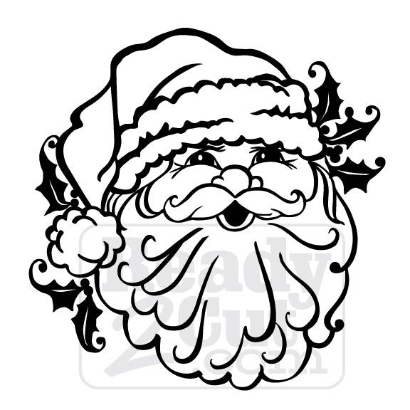 It's the big fat man with the long white beard. It's Santa! ♥ When you purchase this item, you will receive a zipped folder that contains 5different file formats of this design. AI, EPS, SVG, DXF ...