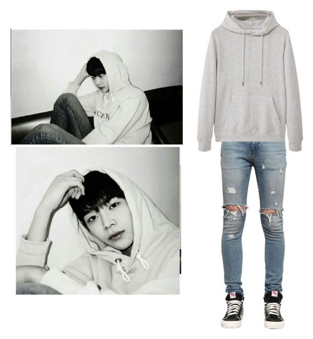 """""""Donghyuk's Individual Scene in Lovesick"""" by official-romeo ❤ liked on Polyvore featuring RtA, MANGO MAN, men's fashion and menswear"""