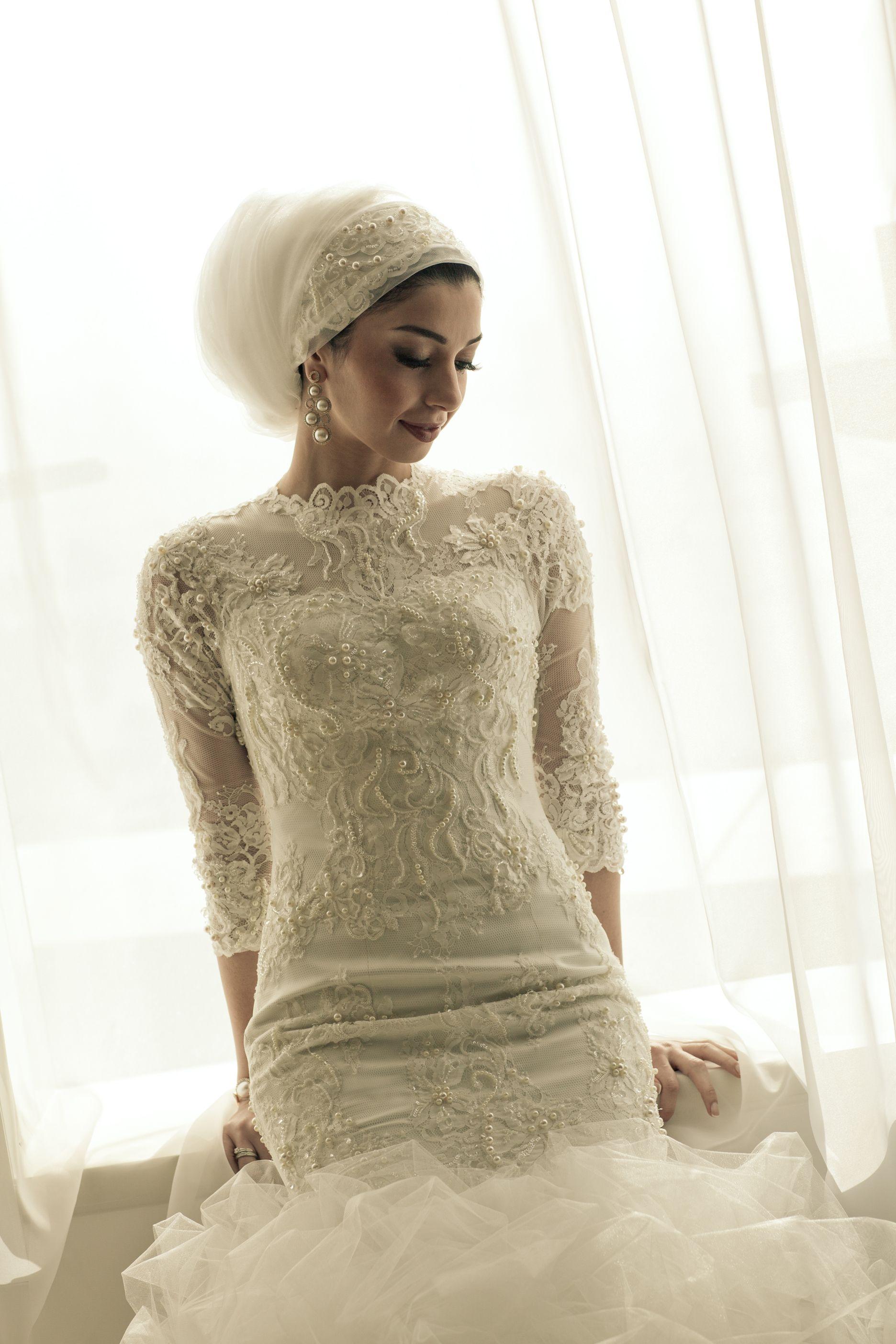 Bridal Headscarf Veil Inspiration, Hijab bride, modest b… | South ...