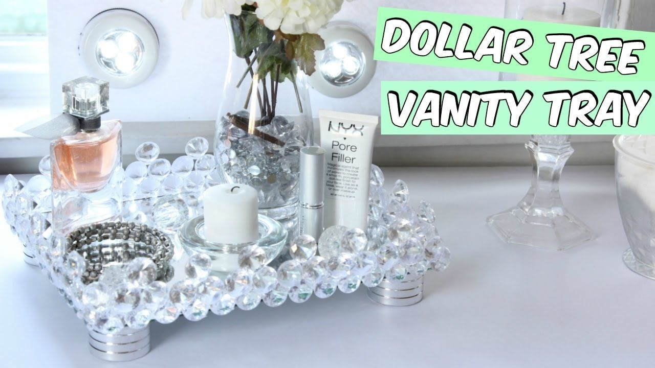 DOLLAR TREE VANITY TRAY D.I.Y YouTube Diy dollar tree