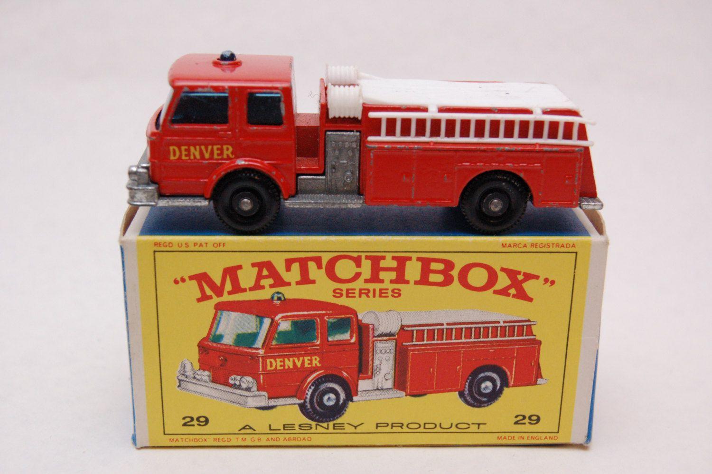 No 29 Fire Pumper Truck Denver Label W Original Box By