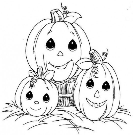 Baby Pumpkin Coloring Page  Cute Coloring Pages  Halloween Pumpkin