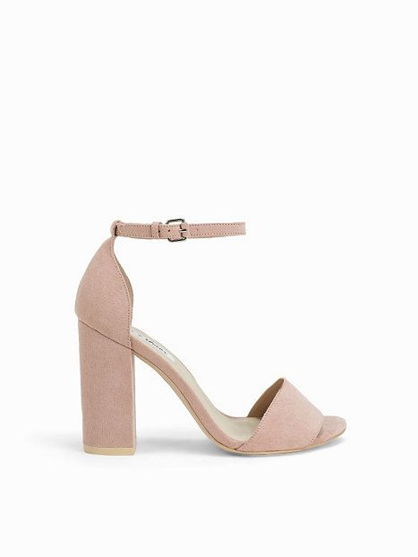 Block Heel Sandal - Nly Shoes - Dusty Pink - Party Shoes - Shoes ...