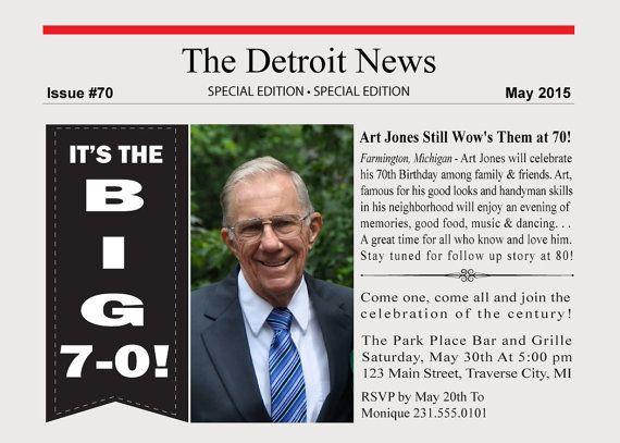Newspaper invitation printable newspaper birthday party newspaper invitation printable newspaper birthday party invitation stopboris Images