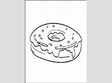kleurplaat donut n kleurplaat vormen ring in