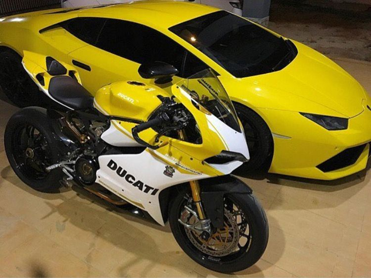 Ducati Yellow Lamborghini Cars And Motorcycles Pinterest