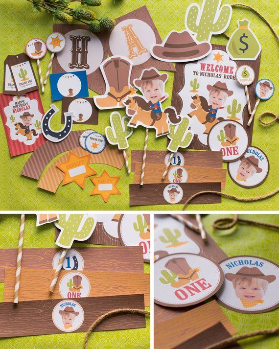 Photo of DIGITAL FILES Cowboy Birthday Party Decorations, Cowboy Party Decor, Cowboy Party Printables, Western Cowboy Theme, Cowboy Party Kit