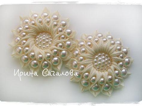 VID00680 1 | Цветы из лент, вышивка лентами | Постила ...