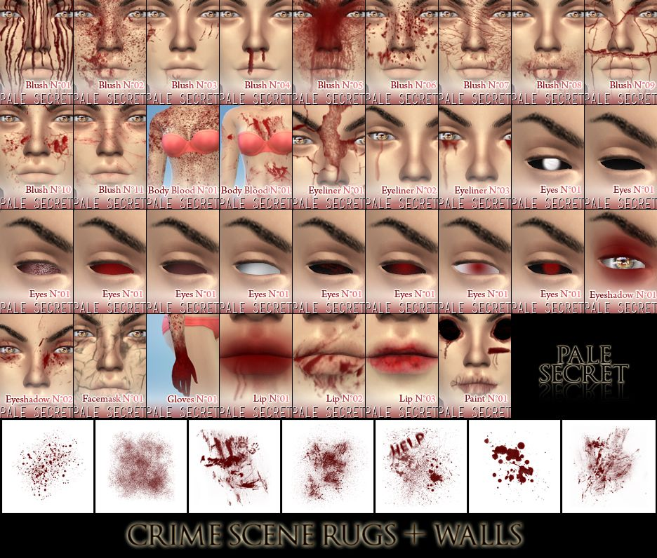 Pale Secret ] - TS4 Gore CollectionMany people wanted our TS3 set