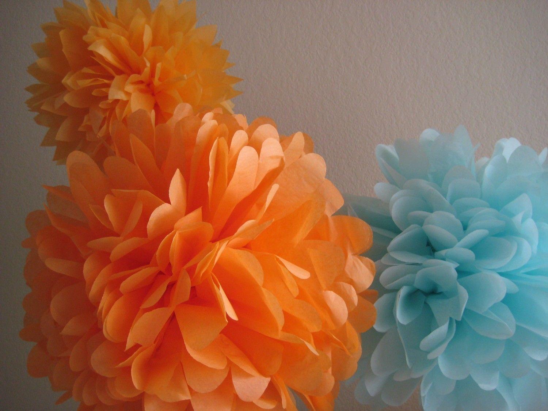 Sale 16 Tissue Pom Pom Flower Decoration Diy Kit Custom Pick