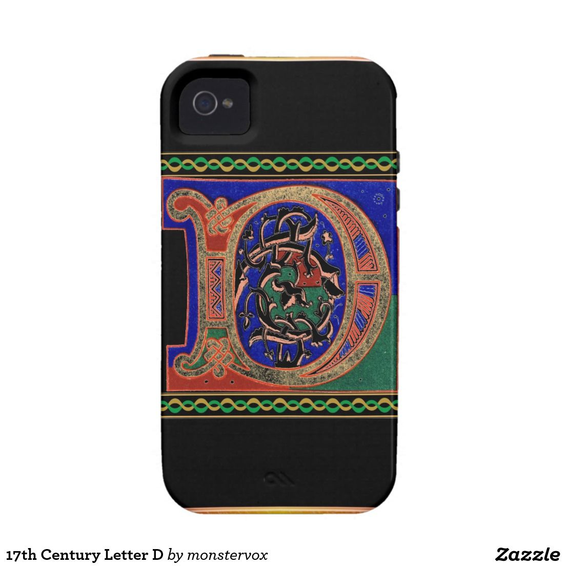 17th Century Letter D Vibe iPhone 4 Cover #Alphabet #Letter #English #Historic #Phone #iPhone #Mobile #Case #Cover