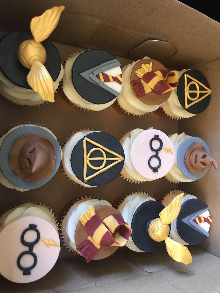 Harry Potter Muffins Harry Hochzeitstorte Muffins Potter Harry Potter Snacks Geburtstag Cupcakes Baby Harry Potter