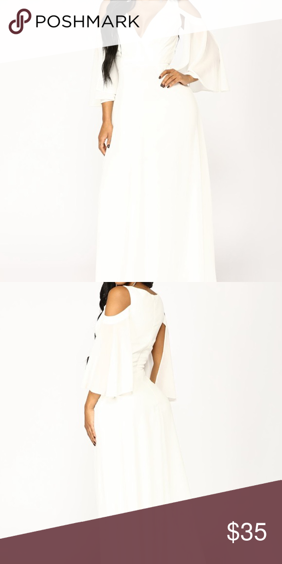 178234fe9235 Debutante Ball Chiffon Dress size: Small White dress, never worn Fashion  Nova Dresses Maxi