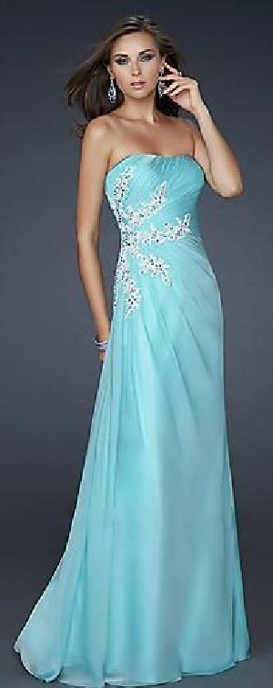 Sexy Column Chiffon Light Sky Blue Long Evening Dresses Sale tkzdresses10796cerg #longpromdress