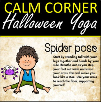 calm corner halloween yoga poses  yoga for kids new