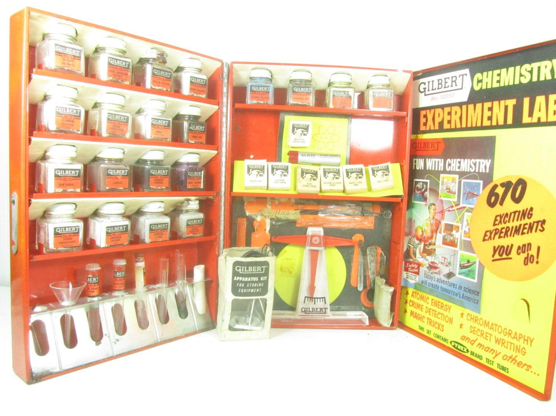 Vintage gilbert chemistry sets