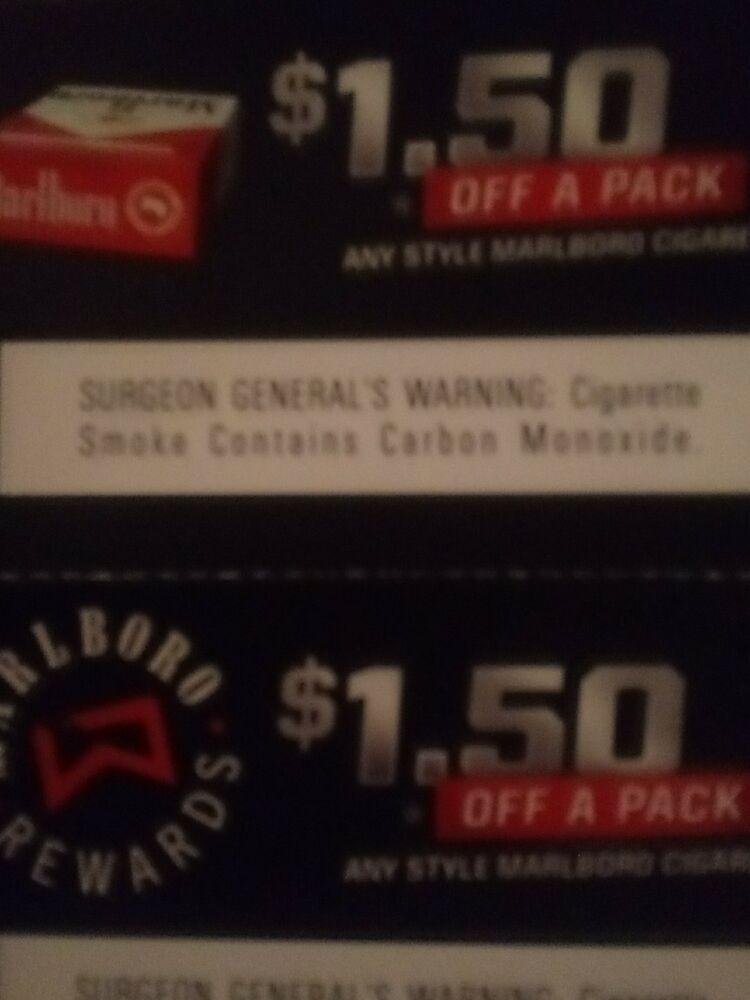 Marlboro Cigarette Coupons: $1 52 (2 Bids) End Date: Wednesday Jan
