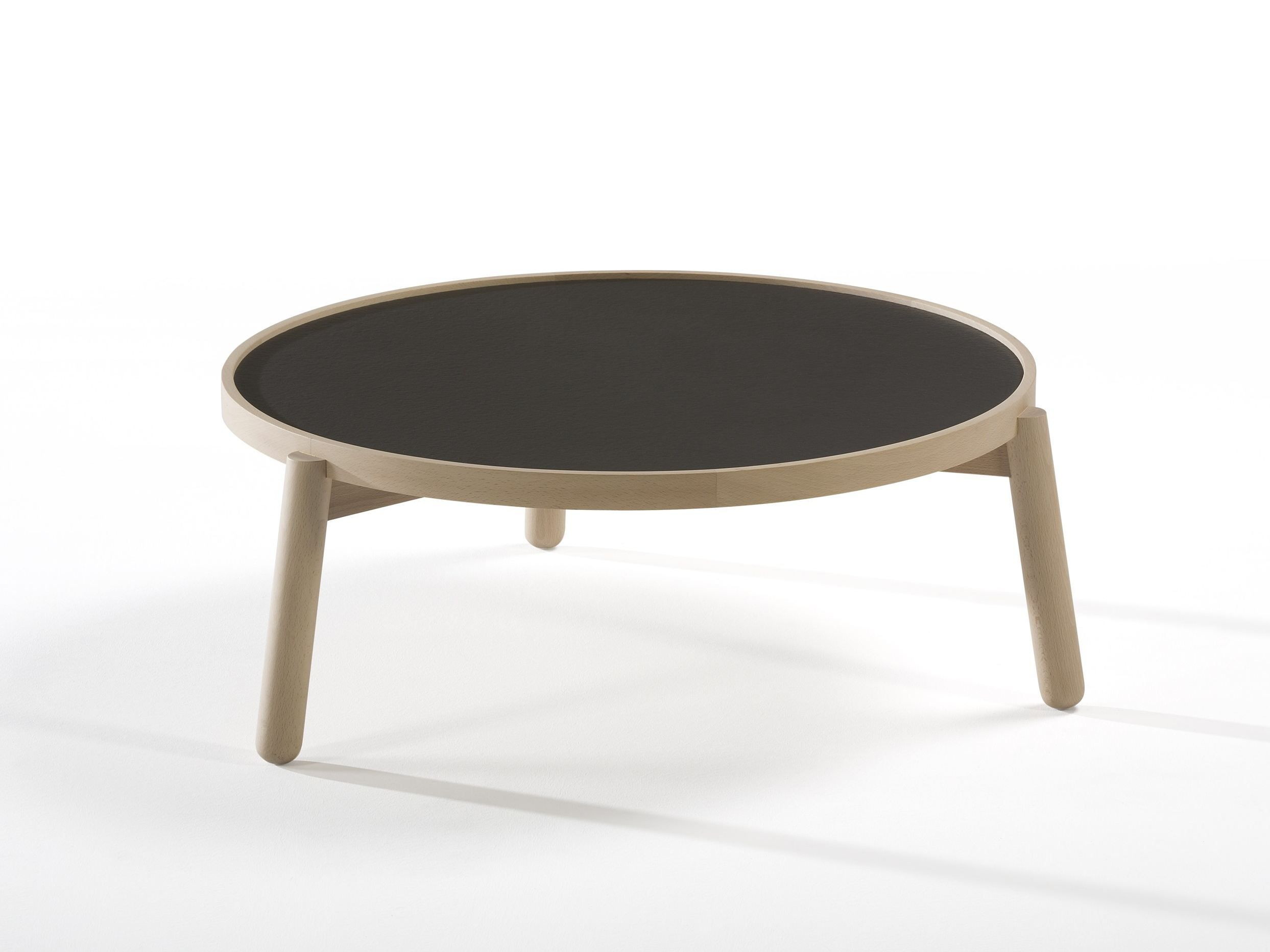 Low round coffee table VAN by Kendo Mobiliario