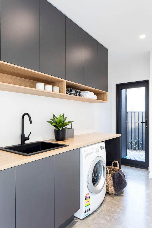 Classy Laundry Room Update Showing Off Minimalist Modern Interior Designs Shairoom Com Laundry Room Design Modern Laundry Rooms Laundry Design
